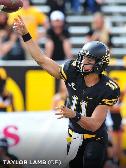 Mountaineers to watch - Taylor Lamb (QB) (Photos by APP STATE ATHLETICS)