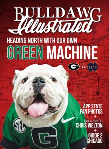 2017 Vol 15 Issue 04 UGA vs. Notre Dame cover