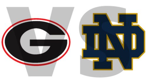 Georgia G vs Notre Dame ND 2017 edit by Bob Miller