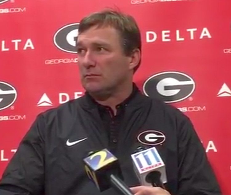 Kirby Smart during post-game press conference  - UGA 20 - Notre Dame 19 -  Saturday, September 9, 2017