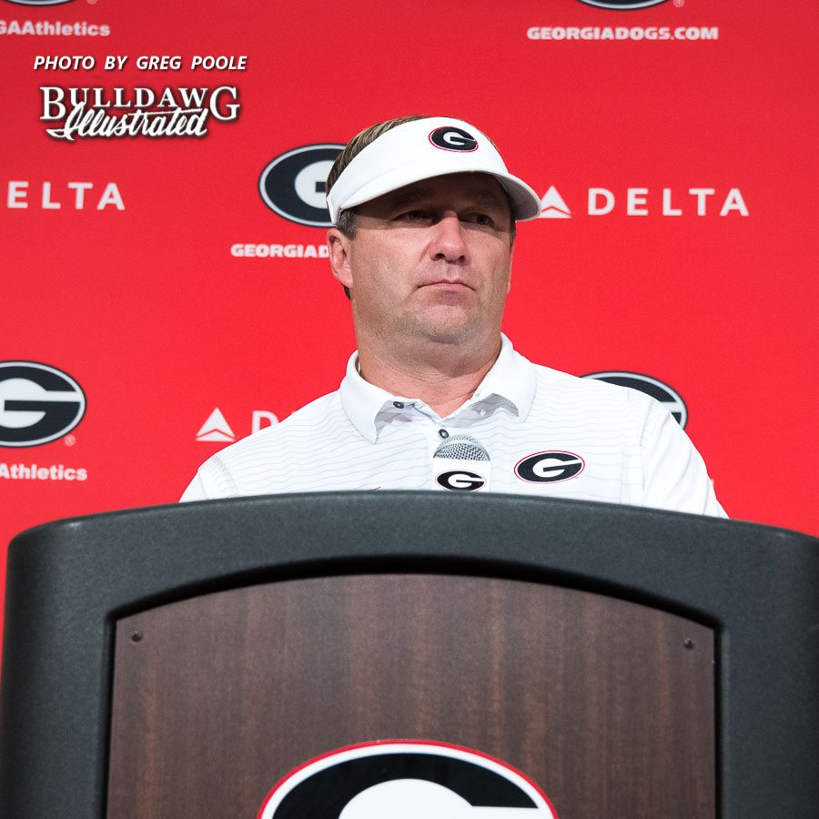 Kirby Smart during post-Samford game press conference on Saturday, Sept. 16, 2017