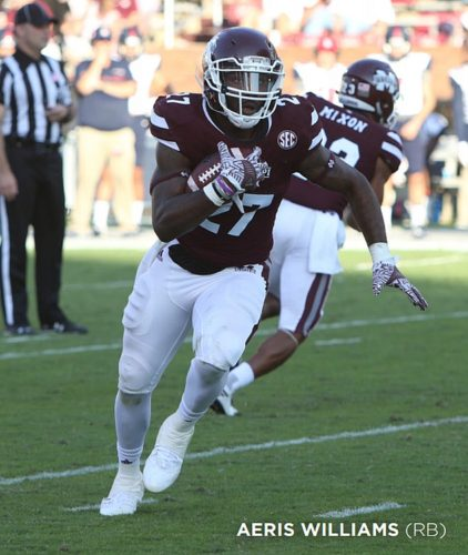 Aeris Williams (Photos by KELLY PRINCE/MISSISSIPPI STATE ATHLETICS)