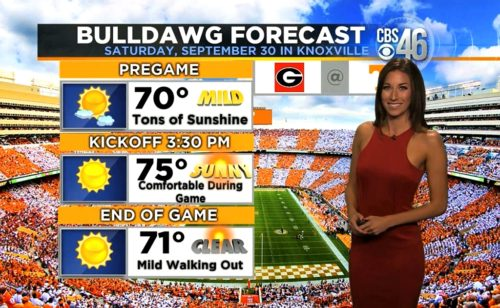 Ella Dorsey's Bulldawg Game Day Forecast for UGA vs. Tennessee