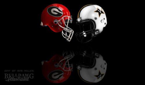 UGA vs. Vanderbilt helmet edit by Bob Miller