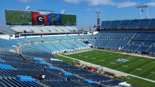 From the Press Box at EverBank Field, Jacksonville, FL
