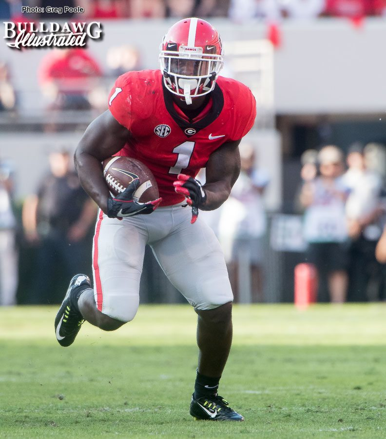 Sony Michel (1) - Georgia vs. South Carolina - Sat., Nov. 4, 2017