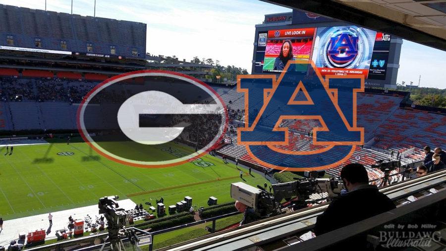 From the Press - Box Jordan Hare Stadium - Georgia-Auburn 2017 edit by Bob Miller