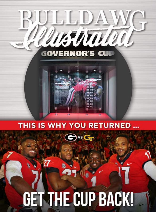 Bulldawg Illustrated cover for 2017, Vol 15, Issue 14 Get the Cup Back