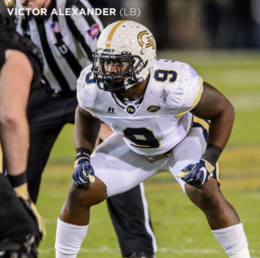 Victor Alexander, GT linebacker  (Photos from Georgia Tech Athletics / Austin Foote)
