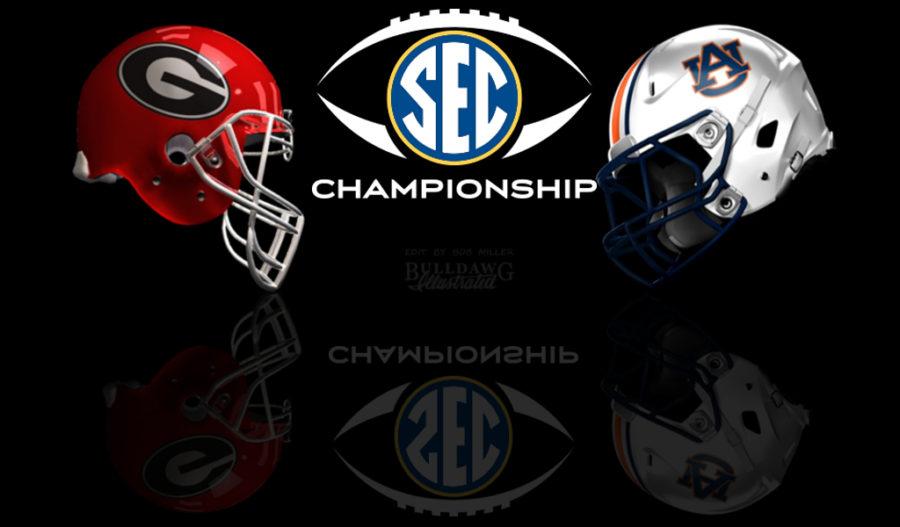 2017 SEC Championship - Georgia vs. Auburn helmet edit by Bob Miller