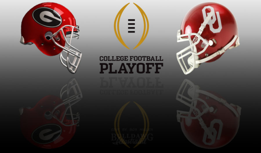 2017 College Football Playoffs - Georgia vs. Oklahoma helmet edit by Bob Miller