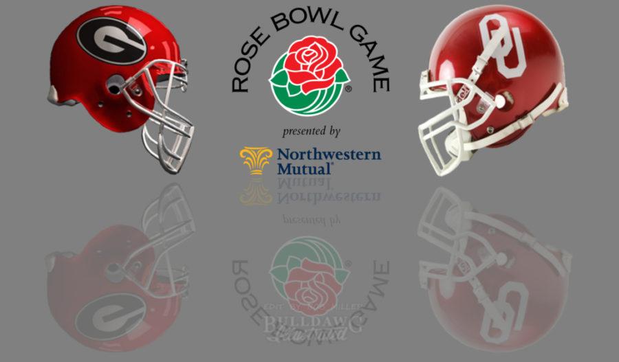 2017 Rose Bowl Game - Georgia vs. Oklahoma helmet edit by Bob Miller