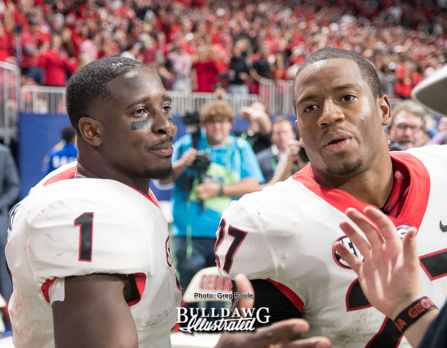 Sony Michel and Nick Chubb - SECCG 2017