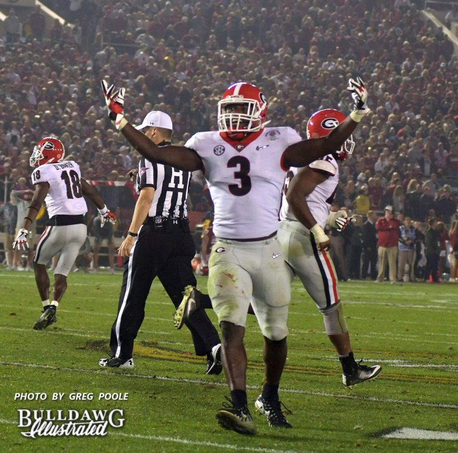 Roquan Smith (3)<br /> - Rose Bowl, Jan. 1, 2018 - Roquan Smith was selected by the Chicago Bears in the 2018 NFL Draft