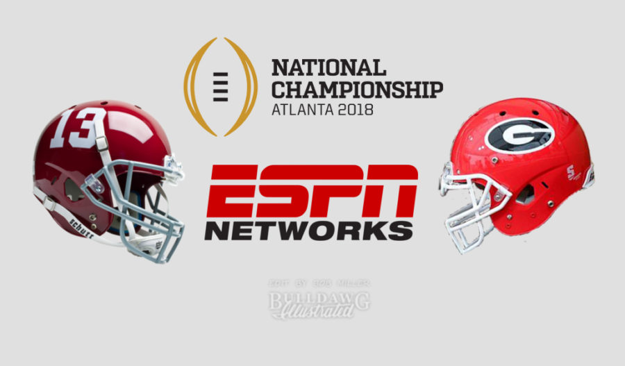 Georgia vs. Alabama CFP Nat'l Championship helmet edit 001 by Bob Miller