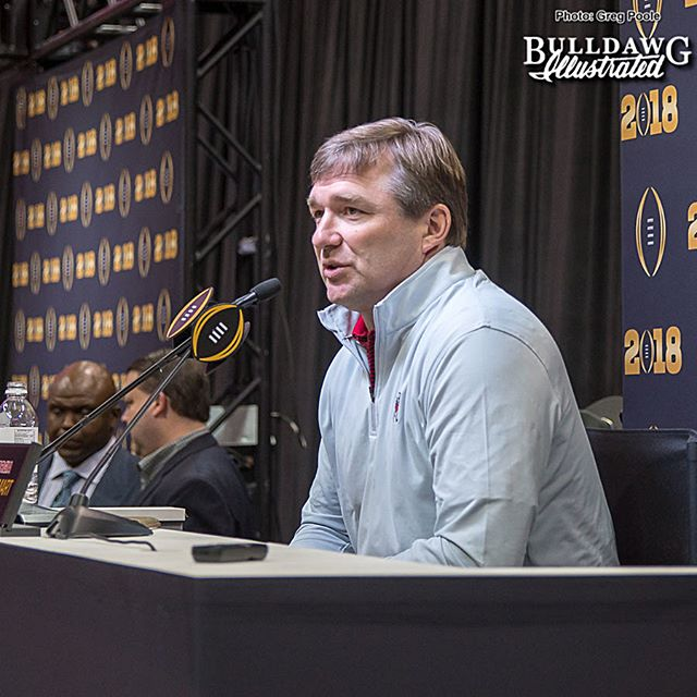 Kirby Smart during Saturday's National Championship media day press conference, 2018-Jan-06