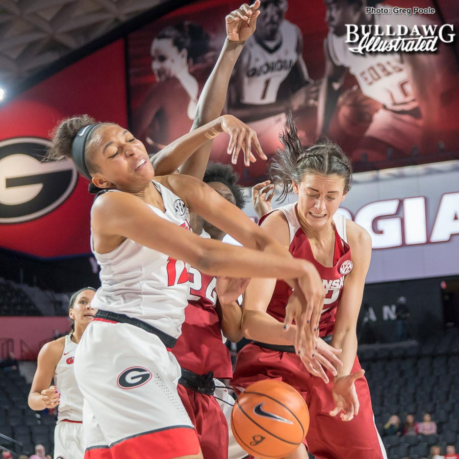 Haley Clark – Georgia vs. Arkansas – January 11, 2018