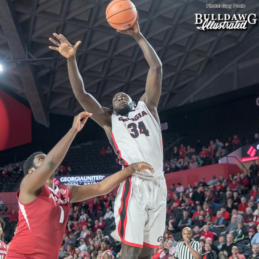 Derek Ogbeide – Georgia vs. Arkansas – January 23, 2018