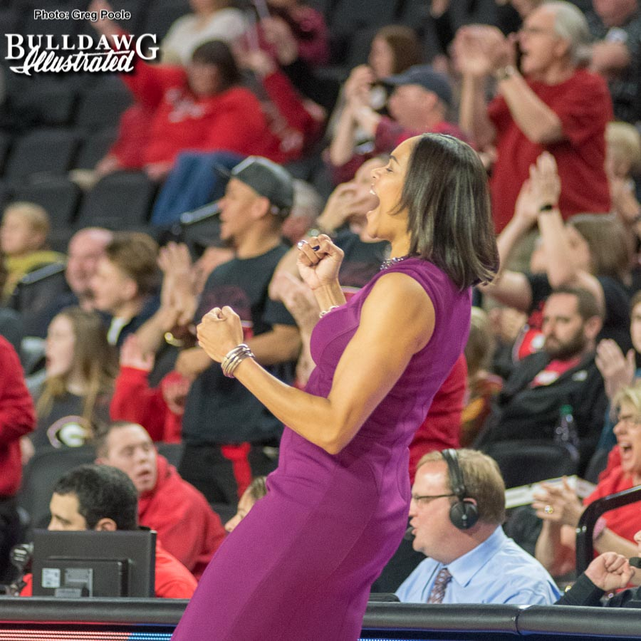 UGA women's basketball coach Taylor – Georgia vs. Missouri – January 25, 2018