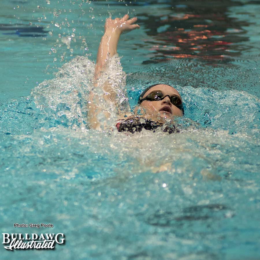 Meg Kingsley swims the 200 yard backstroke - Georgia vs. Emory – February 3, 2018