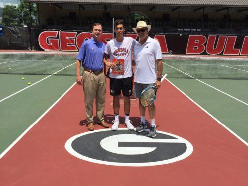 BB&T tournament director Eddie Gonzalez, Emil Reinberg and head coach Manuel Diaz. Photo courtesy of Tray Littlefield