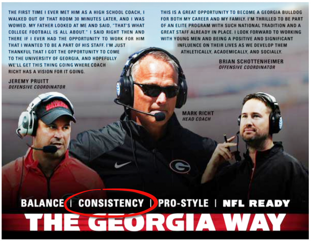 The Georgia way – consistency