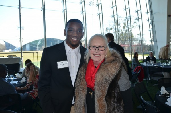 Malcolm Mitchell and Vickie Farmer