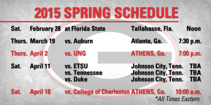 2015 Spring Soccer Schedule