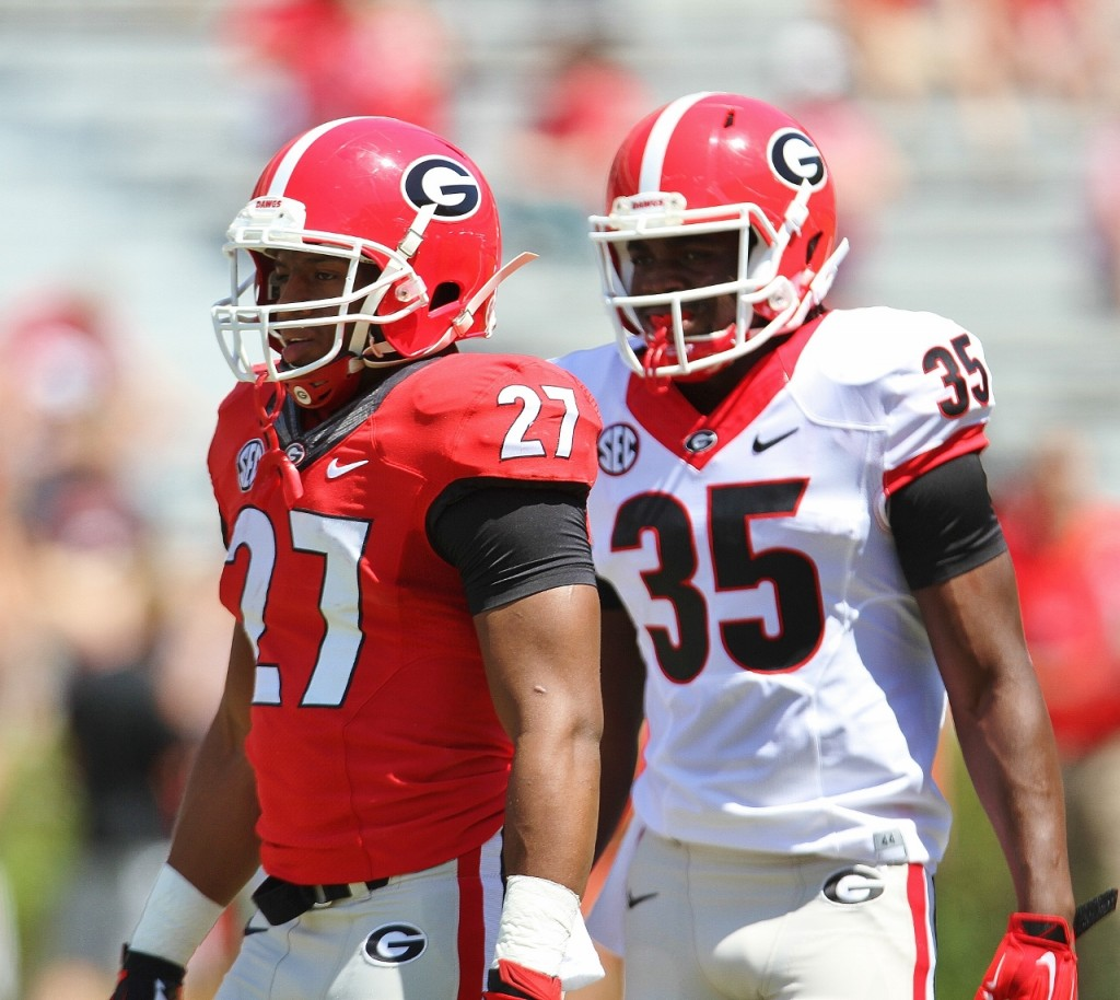 Nick Chubb & AJ Turman - G-Day - 4-11-15
