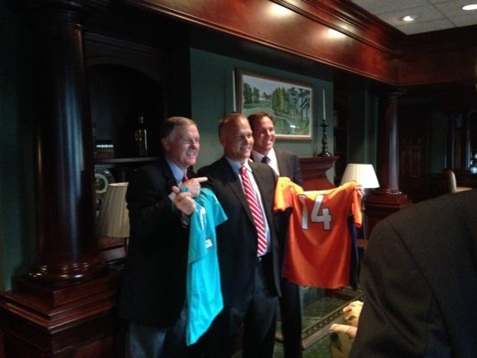 Bob Griese, Mark Richt and Brian Griese Photo by Jacob Blount