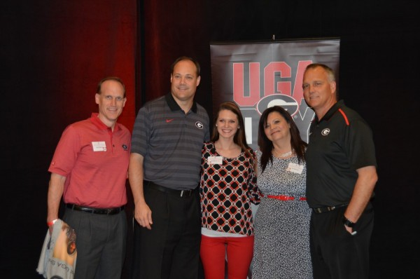 Kevin Monroe, Mark Fox, Keli Monroe, Teri Monroe and Mark Richt
