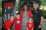 Mark Fox, Kate Burgess, Joni Crenshaw, Jude Burgess and Mark Richt
