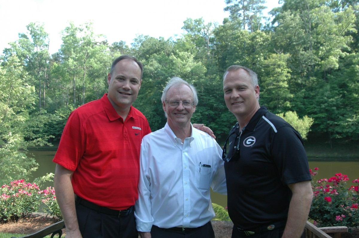 Mark Fox, Brother Stewart and Mark Richt