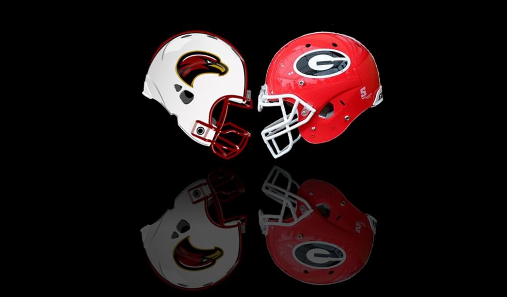 Louisiana-Monroe vs. Georgia. Graphic by Bob Miller.