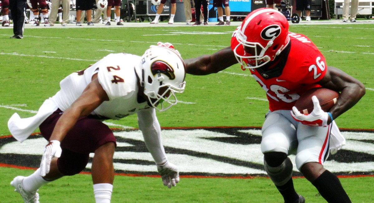 Malcolm Mitchell puts a move on ULM defender