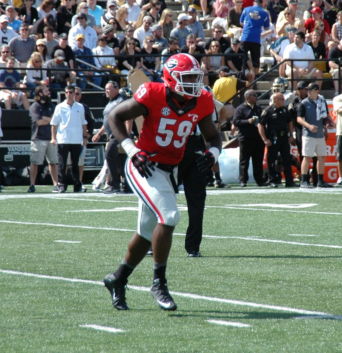 Jordan Jenkins - first half UGA vs Vandy 09-12-2015