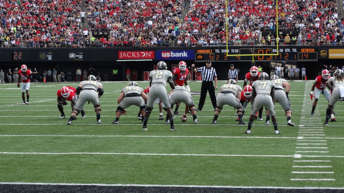 First Half of UGA vs Vanderbilt, Sept. 12, 2015. (Photo by Greg Poole / Bulldawg Illustrated)
