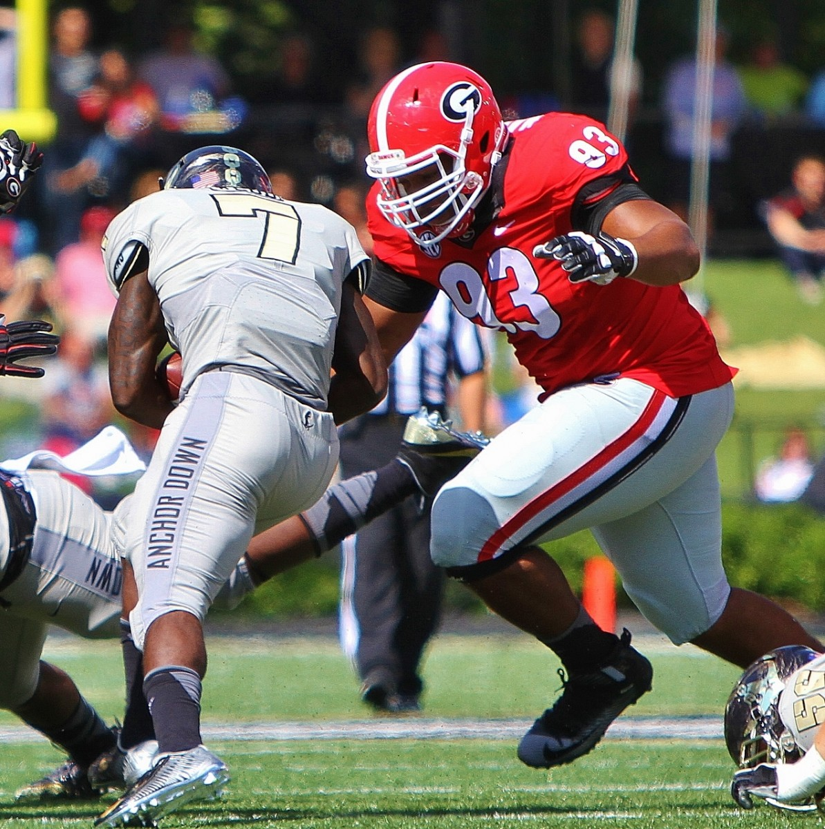 Chris Mayes zeros in UGA vs. Vanderbilt 09-12-2015 (Photo by Rob Saye)