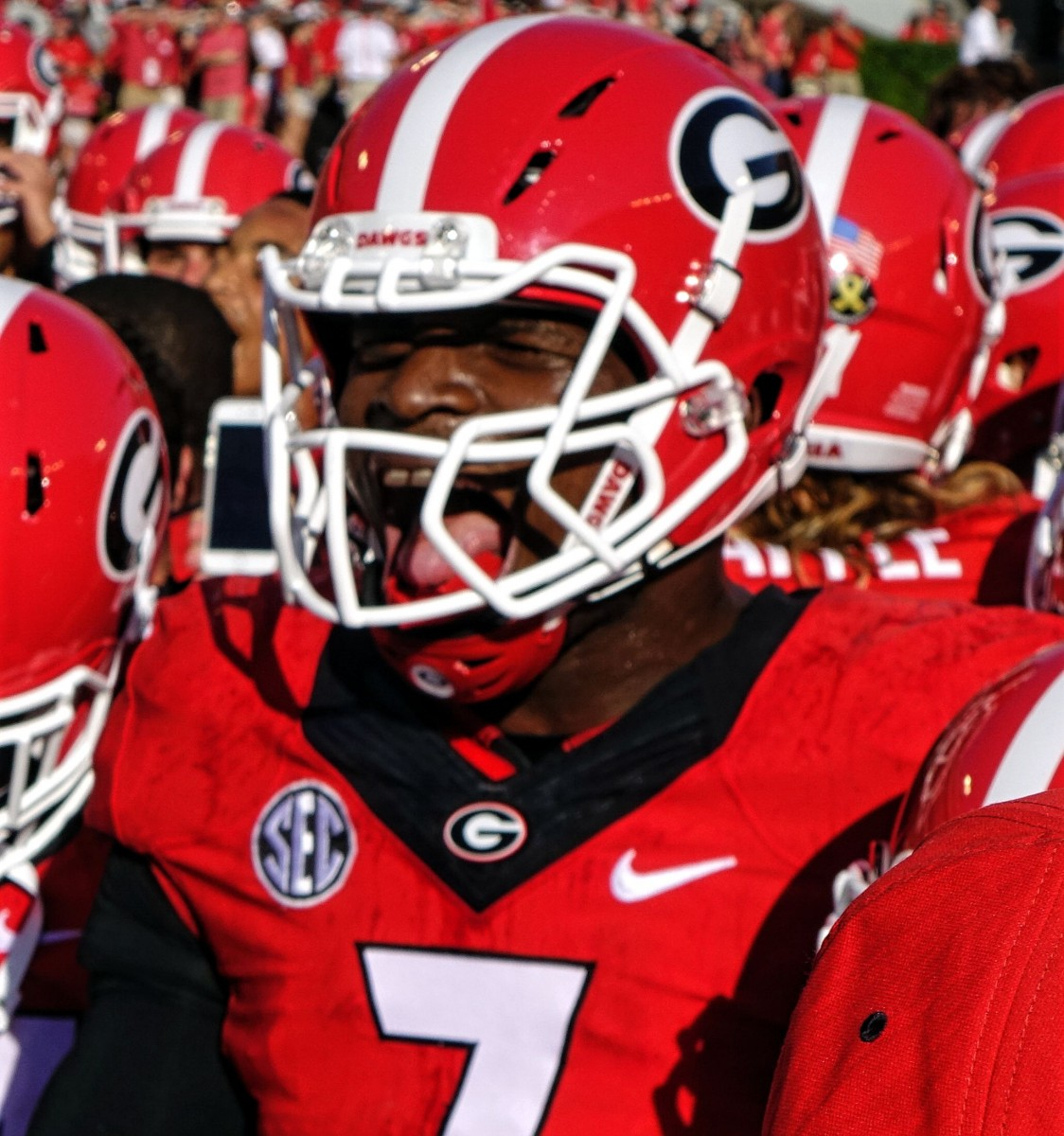 Lorenzo Carter is amped