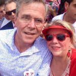 Jeb Bush and Becky Reynolds