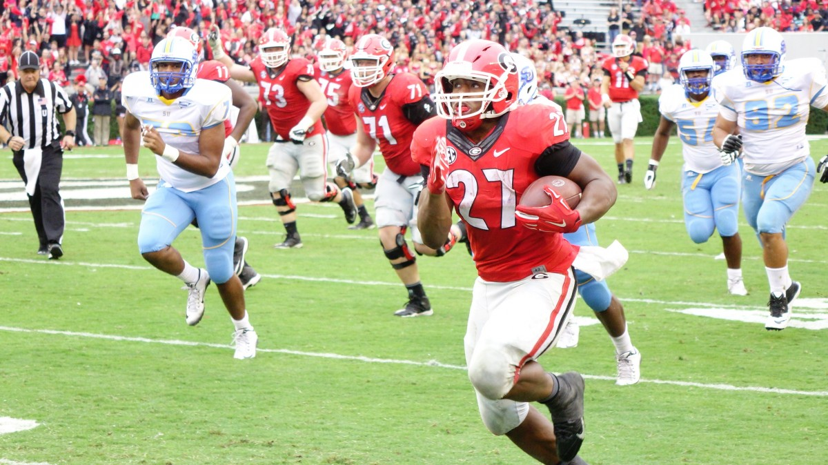 Nick Chubb 2nd half of SouthernU game 09-26-2015