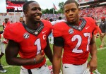 Sony & Nick leave victorious - Dawgs 48 Southern 6 - 9-26-15 - Rob Saye Copyright (1280x896)