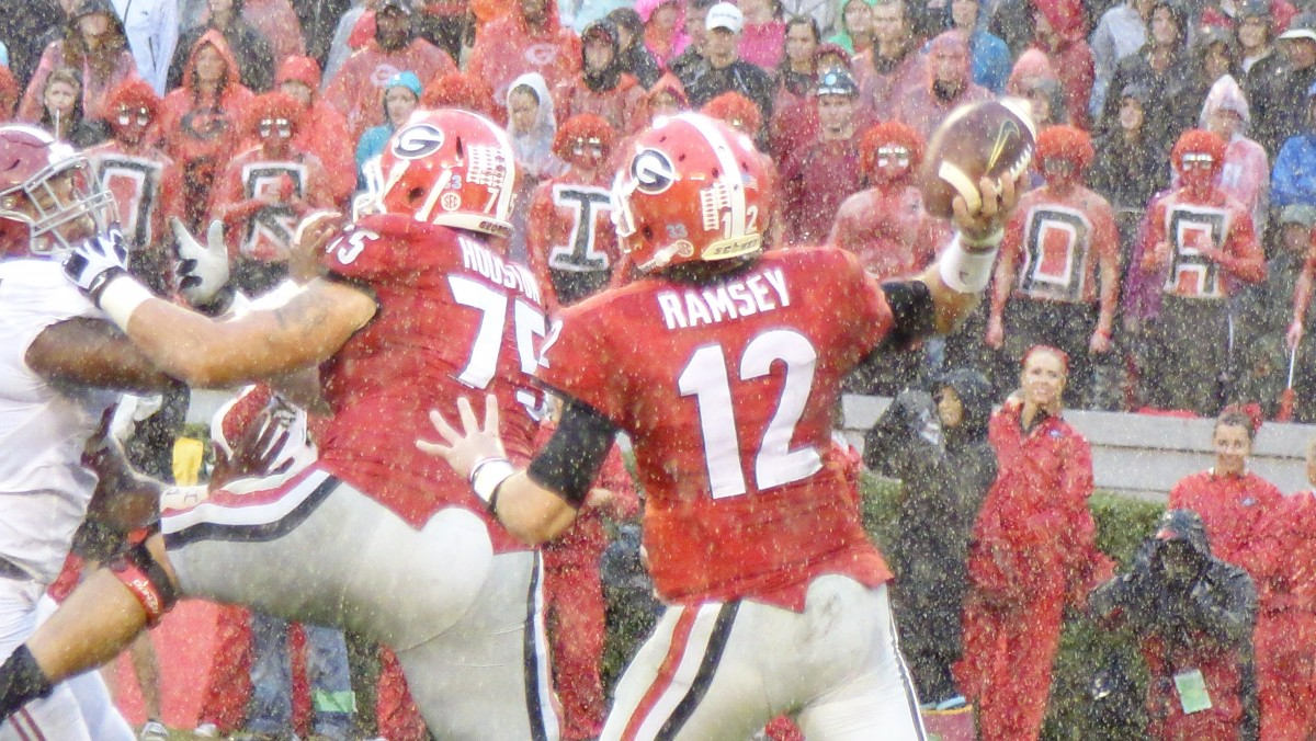 Brice Ramsey during second half of Alabama vs Georgia 10-30-2015 (Photo by Greg Poole / Bulldawg Illustrated)