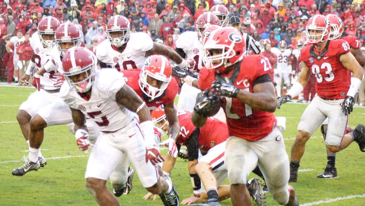 Nick Chubb second half 10-30-2015 Alabama vs Georgia