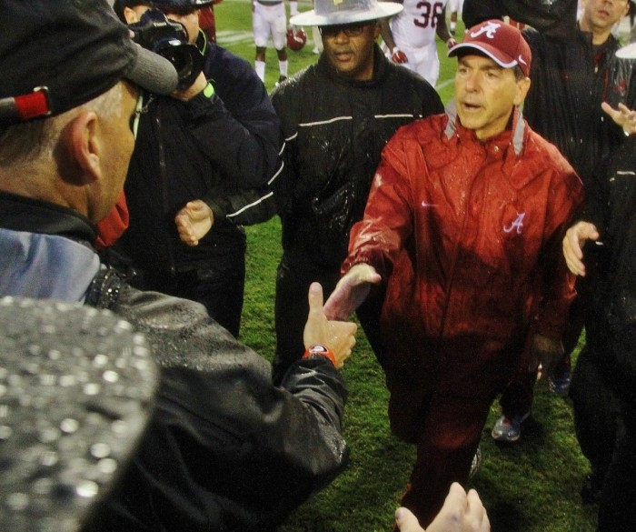 Saban shakes with CMR