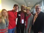 Courtney and Cory Phillips, Judge Steve Jones, Cathy Cox and Mark Dehler