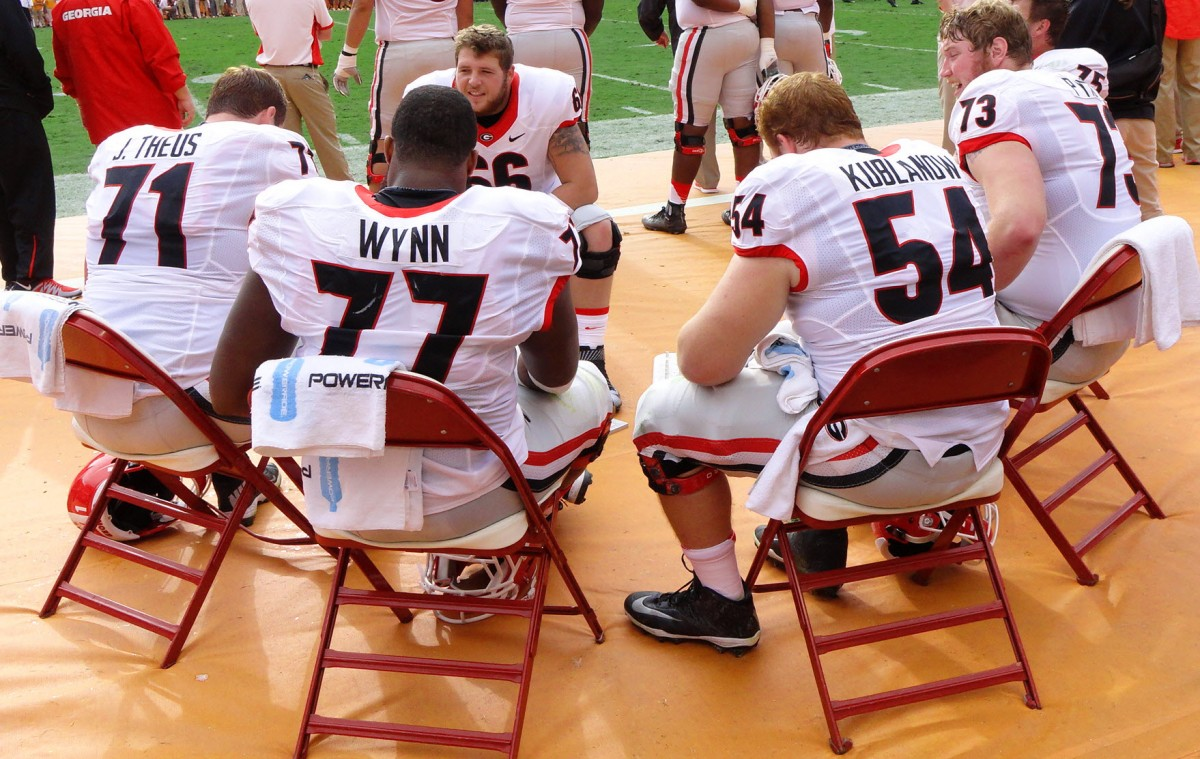 Offensive Line during Tennessee Game