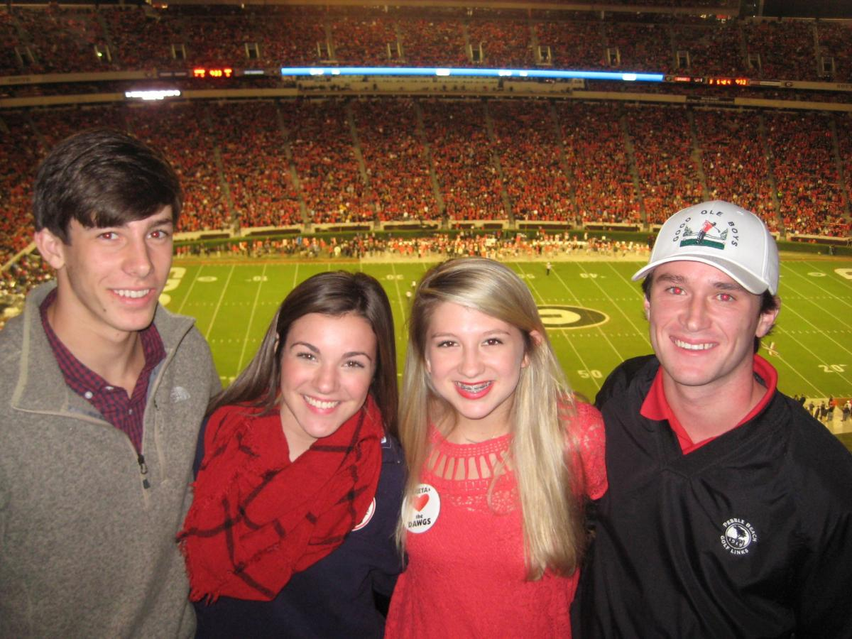 Sim Patrick, Grace Adams, Sanford Caroline Neel and Thomas Traynham (Photo by Cheri and Vance Leavy / Bulldawg Illustrated)