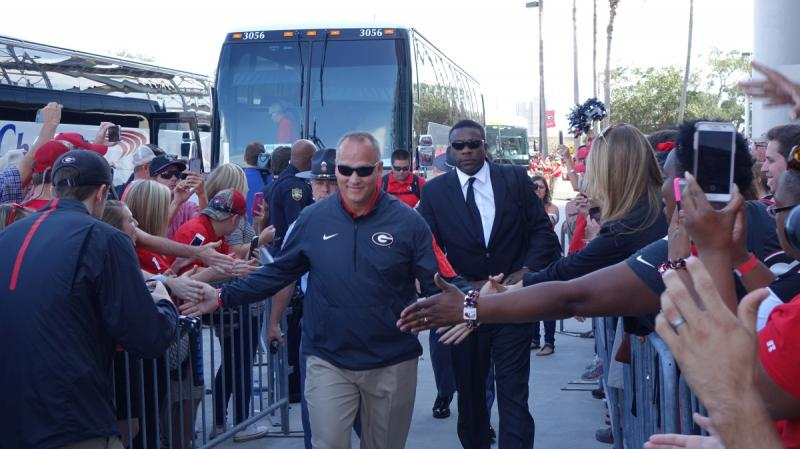 Mark Richt Dawg Walk - Georgia-Florida (Photo by Bulldawg Illustrated's Greg Poole)
