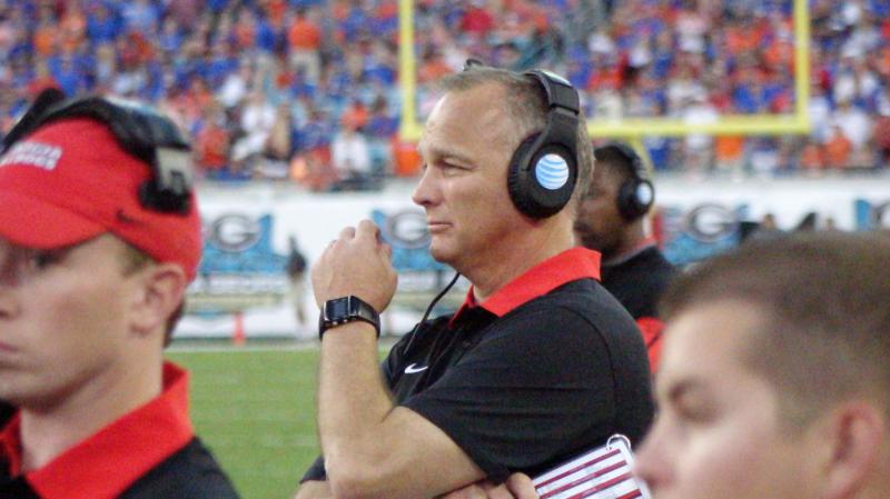 Mark Richt Second half - Georgia-Florida - 31-Oct-2015 (Photo by Bulldawg Illustrated's Greg Poole)